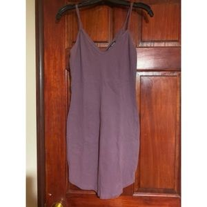 Lilac body con cotton mini dress